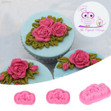 9051 rosas de fondant forma Hazlo tú mismo molde para pastel Sugarcraft Estampador Casa Maker