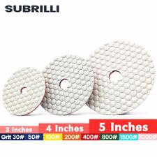 345 Diamond Polishing Pad Flexible Dry Sanding Disc Granite Concrete Glass