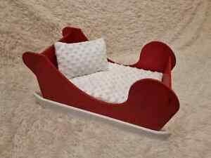 Guinea pig bed Comfortable Xmas Bed Santa Sleigh Perfect gift for small animals
