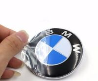 2019 Car Emblem Chrome Hood Badge Logo 74mm 2 Pins For BMW Rear Trunk