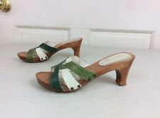 KENNETH COLE Wooden Clog Leather Sandals Women's 5
