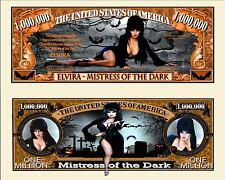 Elvira Million Dollar Bill Collectible Fake Play Funny Money Novelty Note