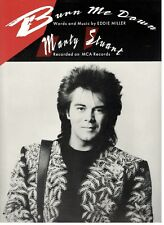 "MARTY STUART ""BURN ME DOWN"" SHEET MUSIC-PIANO/VOCAL/GUITAR/CHORDS-RARE-BRAND NEW"