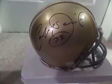 Cam McDaniel signed Notre Dame mini helmet,  COA, #33