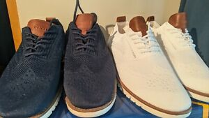 Lot of 2! Relaxed Leisure Shoes Men's Size 45 euro, 11.5 US shoes - Wingtip patt