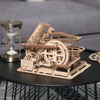 ROBOTIME 3D Holz Puzzle Laser geschnittene DIY Wasserrad Coaster Modellbau Kits