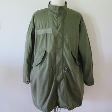 VINTAGE ORIGINAL US ARMY FISHTAIL PARKA WITH LINER M-65 M65 DATED 1983 MEDIUM