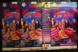 Lot of 3 1991 Ralston The Addams Family Cereal Boxes Box V1