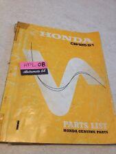 Honda CB125S1 CB125 S1 CB 125 parts list liste catalogue pièce détachée