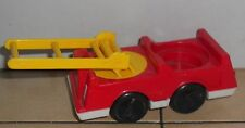 Vintage 80's Fisher Price Little People Fire Truck #123 124 876 997 FPLP