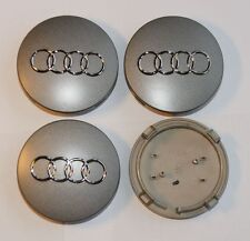 4 Audi 8t0601170 jantes Couvercle moyeu BOUCHONS MOYEU 8t0 601 ARGENT 170 COMME NEUF