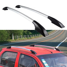 1 Pair Top Roof Side Rails Rack Cargo Luggage Silver Aluminium Fit for Mazda 5
