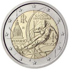 """ITALIA  2   EUROS   """"  AÑO 2006   Juegos Olímpicos de Invierno TURIN    UNC"""