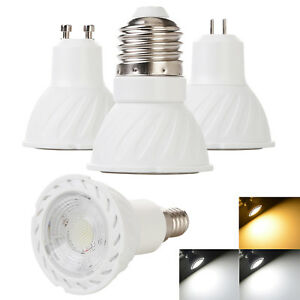LED COB Spotlights Dimmable 5W GU10 MR16 E27 GU5.3 E14 Bulb Replace 50W Halogen