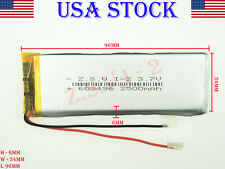 3.7V 2500mAh   603496 Lithium Polvmer LiPo Rechargeable Battery (USA STOCK)