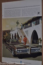 1969 Pontiac advertisement page, Pontiac Bonneville 4-door hardtop, Endura nose