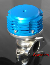 38MM 4 PSI External Wastegate Turbo Stainless Steel Dump Valve Anodized Blue