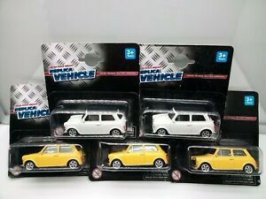 Welly / Mini Cooper 1300 - Yellow - Off White - Model Cars x5