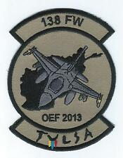 "138th  FIGHTER WING OEF 2013 ""TULSA"" F-16 (THE LATEST) patch"
