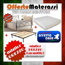 Pacchetto completo Letto in ferro + Materasso in memory foam + Rete a doghe