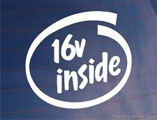 16V INNEN Lustiger EURO JDM Auto/Fenster/Stoßstange Aufkleber - 16 Valve Motor
