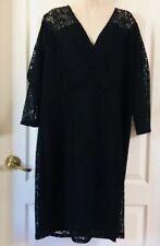 Lane Bryant Ladies Little Black Dress Size 20 1X Lined Lace New