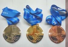 2010 Vancouver 'Undulated Shape' Olympic Medals Set: Gold /Silver /Bronze