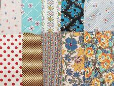 10 BEST 1920s Print Vintage Cotton Quilt Fabric Scraps Floral & More Remnants