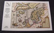 Iceland  Souvenir Sheet Scott#  590 Map northern Europe  MNH  1984 C365