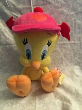 Tweety Bird stuffed animal, Looney Tunes. Tags, Valentine hat 10 inch. Russell