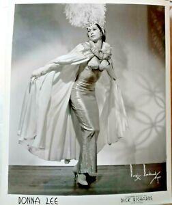 DONNA LEE Burlesque Star Dancer A BORIS BAKCHY ORIGINAL PHOTO 1950 Pin Up 8x10