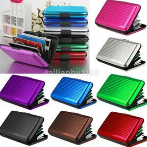 Practical Pocket Business Name Credit ID Card Case Metal Box Holder Aluminum New
