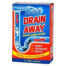 Dazzit Drain Away Unblocker Cleaner Quickly Removes Blockages 3 x 40g Sachets