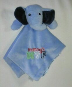 Baby Starters Plush Blue Elephant Security Blanket Lovey Mommy's MVP Rattle Toy