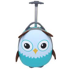 "Emmzoe Kids Toddler 15"" Carry On Animal Trolley Hardshell Luggage Olla Owl"