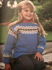 FCi33 - Knitting Pattern - DK Fair Isle Featured Children's Jumper