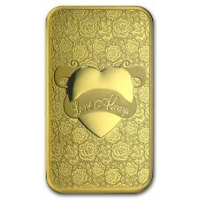 5~GRAM ~PURE 9999 GOLD ~ LOVE  ALWAYS ~ PAMP SUISSE ~SEALED BAR~ $9.99 ~ BID~WIN