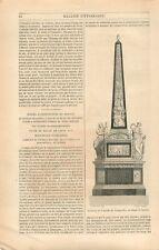 Tombeau de la Famille Longueville & Cardinal Mazarin par Coysevox  GRAVURE 1849