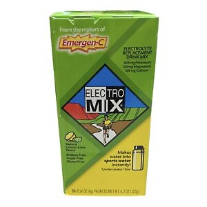 Emergen-C Electro Mix Lemon-Lime 30 Packets 0.14 oz ea Gluten-Free EXP: 08/2021
