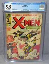 THE X-MEN #1 First appearance & Origin CGC 5.5 FN- Marvel Comics 1963 Uncanny