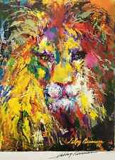LeRoy Neiman PORTRAIT OF A LION Hand Signed Lithograph
