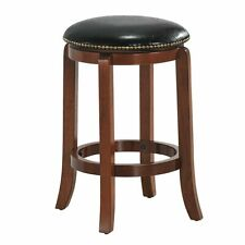 Bistro Leather Padded  Backless Swivel Bar stool