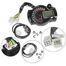 Motorcycle Universal LCD Digital Speedometer Tachometer Odometer Gauge 15000rpm