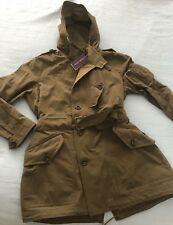 Ralph Lauren Purple Label Military Hooded Long Field Coat Jacket Wool Olive XL