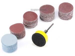 100pcs 25mm Sanding Sander Backing Pad Dremel Rotary Drill Sandpaper Disc Tool