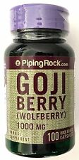2 BOTTLES Goji Berry 1000mg Wolfberry 100 Capsules 4:1 Fruit Extract Antioxidant