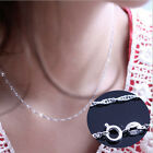 Fashion Women Jewelry 925 Silver Plated Water Wave Chain Necklace Sweater Chain