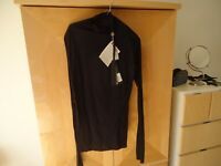 NWT Unravel Project by Ben Taverniti 100 % cotton mock neck split black T-shirt
