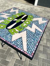 Outdoor mosaic dining table, one-of-a-kind, collectors item, from FurthurLa.com