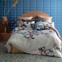KAS Evie Floral Cotton Sateen Quilt Cover Set Multi